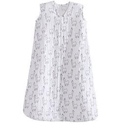 Halo 100% Cotton Muslin Sleepsack Wearable Blanket, Llama Pr