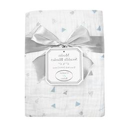 American Baby Company 100% Natural Cotton Muslin Swaddle Bla