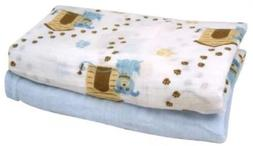 Stephan Baby Cotton Muslin Swaddle Blankets Gift Set Solid B