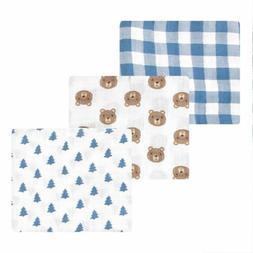Hudson Baby Cotton Muslin Swaddle Blankets, Little Bear, One