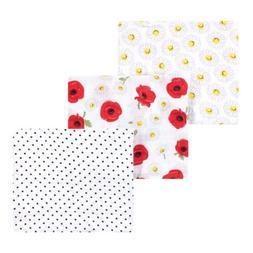 Hudson Baby Cotton Muslin Swaddle Blankets, Poppy Daisy, One