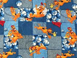 Cotton Quilt Fabric Scooby-Doo Baseball Hanna-Barbera Spring
