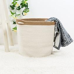 """Goodpick 15"""" x 12.6"""" x 11.8"""" Large Cotton Rope Basket - Wove"""