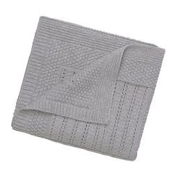 Elegant Baby 100% Cotton Seed Knit Blanket, Gray, 30 X 40 89