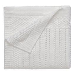 Elegant Baby Premium 100% Cotton Knit Blanket, Cream Texture