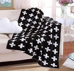"Bluestar Cotton Soft Baby Knitting Blanket, 35""43"" Personali"