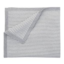 Elegant Baby 100% Cotton Tightly Knit Blanket, Mini Gray Str