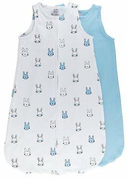 100% Cotton Wearable Blanket Baby Sleep Bag Blue Bunnies 2 P
