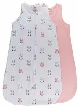 100% Cotton Wearable Blanket Baby Sleep Bag Pink Bunnies 2 P
