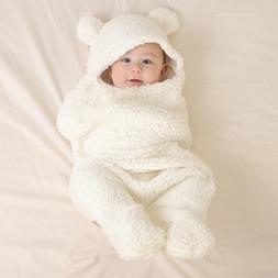 Cotton Winter Warm Baby Sleeping Stroller Swaddle Wrap Blank