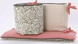Cocalo Couture Alma Girls Crib Bumper Reversible Floral Pink