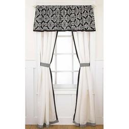 CoCaLo Couture ~ Elsa Window Drapes ~ Black/White ~ New