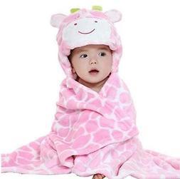 Cow Print Animal Hood Baby Blanket