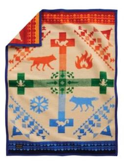 Pendleton Coyote Steals Fire Crib Wool Blanket