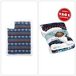 Cozy Baby Blanket Soft Plush Microfleece Comfortable Reversi