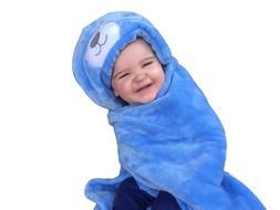 Cozy Fleece Baby Blanket | Hooded Toddler Security Comfort W