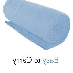 Imperial Home Cozy 50 X 60 Fleece Throw Blanket -Baby Blue