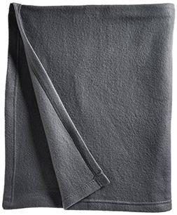 World's Best Cozy-Soft Microfleece Travel Blanket, Charcoal