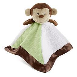 Snoozies Cozy Little Lovies Plush Satin Baby Blanket - Monke
