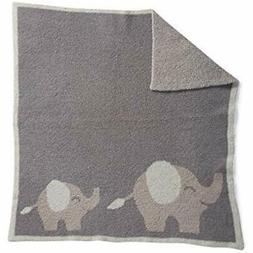 Barefoot Dreams Cozychic Follow Me Blanket - Elephant, Dove