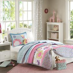 Mi Zone Kids Crazy Daisy Reversible Coverlet Set