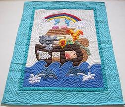 Hawaiian quilt crib baby comforter blanket, wall hanging han