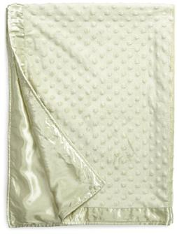 Crib Clouds Cuddle Fleece Dots and Satin Baby Security Blank