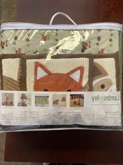 Lambs & Ivy Forest/Woodland 7 Piece Crib Bedding Set - Echo