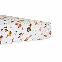 Kadut Kids Crib Sheet Set, 1 Pack, 100% Soft Muslin Cotton-