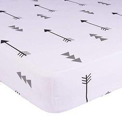 Kyapoo Crib Sheets 100% Cotton Arrows Unisex Bedding Style F