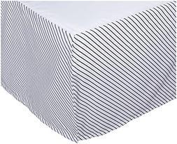Oliver B Crib Skirt - Navy Stripes