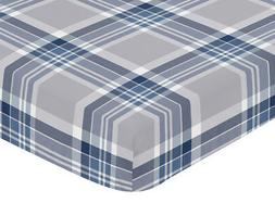 Crib Toddler Fitted Sheet For Sweet Jojo Designs Plaid Boys