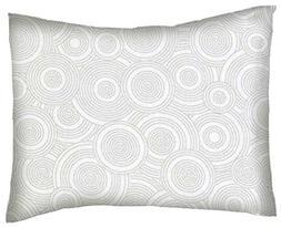 SheetWorld Crib / Toddler Percale Baby Pillow Case - Grey Mu