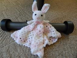 Handmade Crochet Lovey/Security Blanket - Bunny