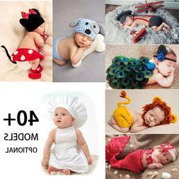Crochet Newborn Baby Photography Props Knit Boys Girls Costu