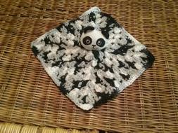 Crochet Panda Bear Lovey/Security Blanket
