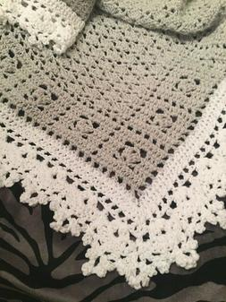 Crochet Sweet Dreams Baby Blanket Afghan Gray And White Help
