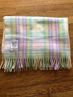 """Curvon Crown 100%  Virgin Wool Baby Blanket 36x50""""  #8 USA S"""