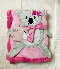Cuddle buddy baby girl plush pink blanket 100% polyester Koa