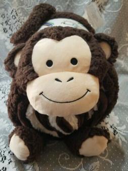 Piper Kids Cuddle Friends Monkey 2 pc Throw & Pillow Set bab