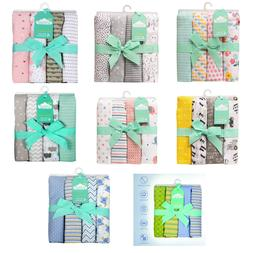 Cuddles & Cribs 4 Pack 100%Cotton Flannel New Born Baby Wrap