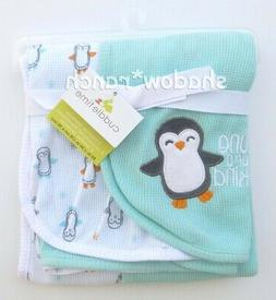 Cuddletime Cuddle Time One of a Kind Penguin Aqua White Ther