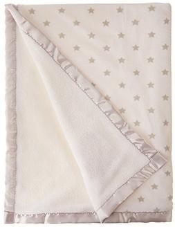 Nuby Cuddly Soft Plush Fleece Baby Blanket Satin Applique, T