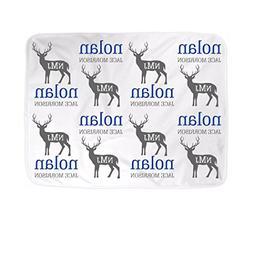 Custom Monogram Baby Name Blanket