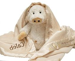Personalized Custom Monogrammed with Name on Baby Aspen Pig-