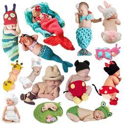 Cute Baby Outfits Unisex Newborn Boy Girls Crochet Knitted C