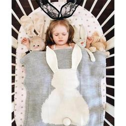 Cute Bunny Kids Baby Napping Blanket Rabbit Bedding Towel Co