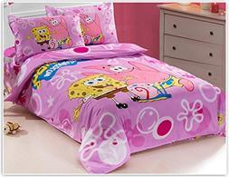 MeMoreCool Cute Cartoon Characters Print Bedding Set for Gir