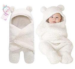 Newborn Baby Boy Girl Cute Cotton Plush Receiving Blanket Sl