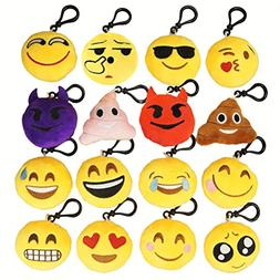 NIVIY Emoji Plush Keychain Cute Mini Plush Pillows Key Chain